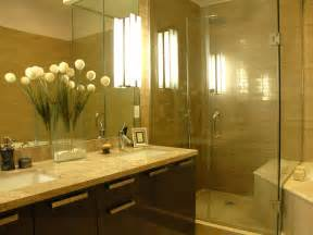 new bathroom shower ideas neutral bathroom with wide vanity mirror enhances small space hgtv
