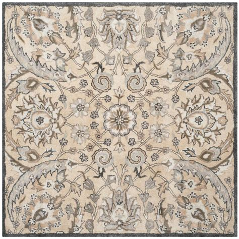 5 ft area rugs safavieh beige multi 5 ft x 5 ft square area rug bel923a 5sq the home depot