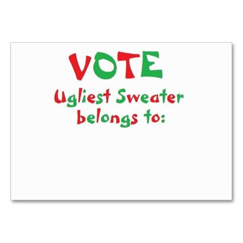 free printable ugly sweater voting ballots quot ugly christmas sweater party quot voting cards the o jays