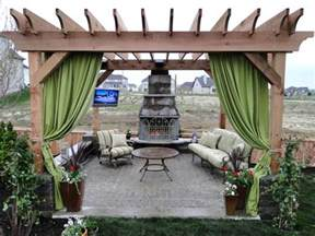 Outdoor Curtains For Pergola Patio Pergola Pictures And Ideas