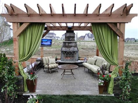how to make patio curtains patio pergola pictures and ideas