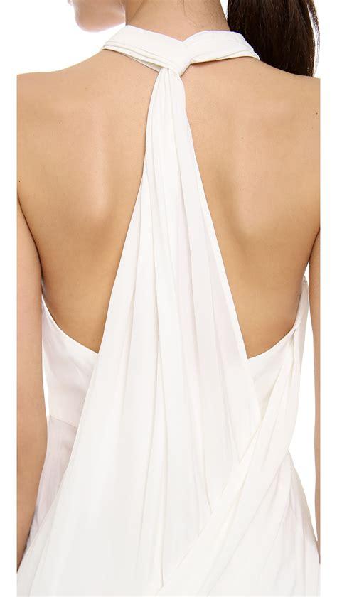 zimmermann back drape dress zimmermann back drape dress white in white lyst