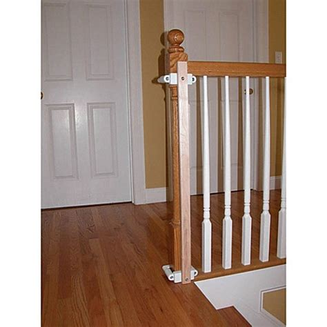 banister installation kit buy kidco 174 stairway gate installation kit from bed bath