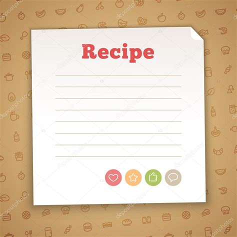 blank card stock templates blank recipe card template stock vector 169 voysla 73002375