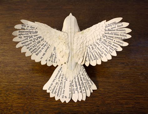 A Paper Bird - handmade wood paper birds by zack mclaughlin colossal