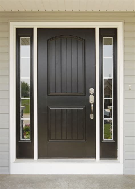 Doors Pictures Front Painted Black For Best And Door Colors Light Brick House ~ loversiq