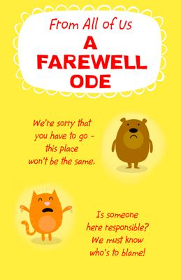 a farewell ode greeting card luck printable card