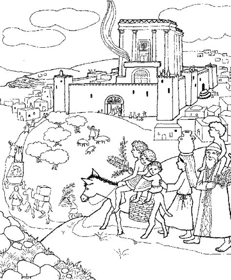 at the temple coloring pages free coloring pages of temple of jerusalem