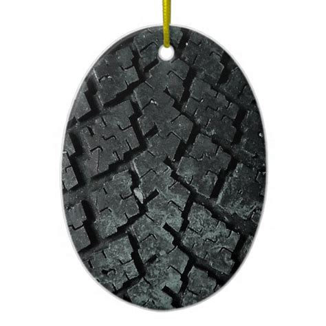 tire ornaments car auto tire sided oval ceramic ornament