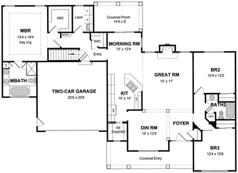 open split floor plans open split bedroom house plan 19513jf architectural