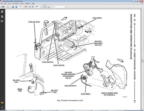 1997 jeep tj wiring schematic wiring diagram manual