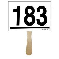 Fundraising Auctioneer Auction Paddle Number Template
