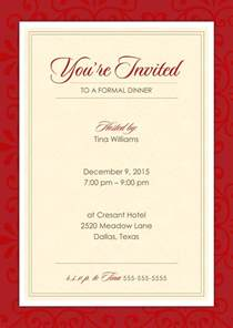 official red invitations amp announcements by 123print