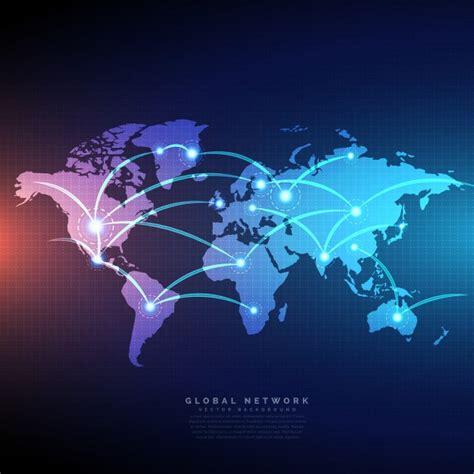 digital world digital world map vector free