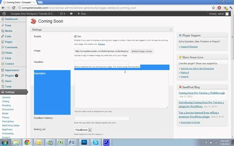 wordpress tutorial youtube wordpress coming soon or under construction page how to