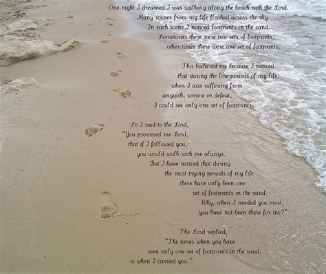 printable version of footprints poem footprints in the sand flickr photo sharing