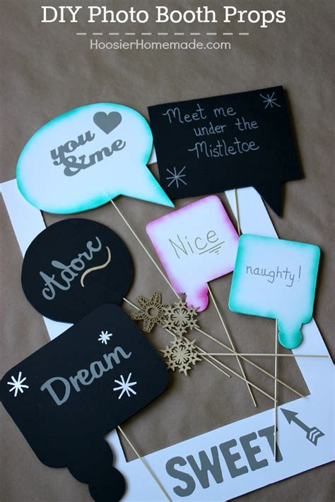 Easy Home Made Christmas Decorations diy photo booth props hoosier homemade