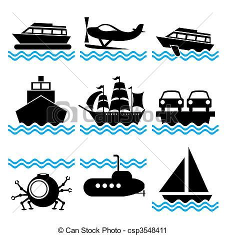 symbols used in the open boat pontoon boat silhouette clipart