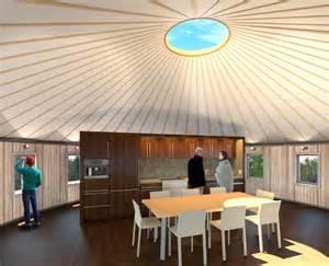 yurt interior design interstice architects 187 yurt retreat