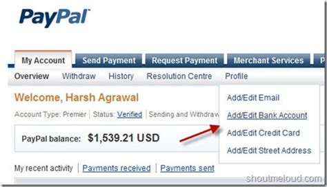 set up paypal with bank account paypal added auto withdrawal to bank account for indian users