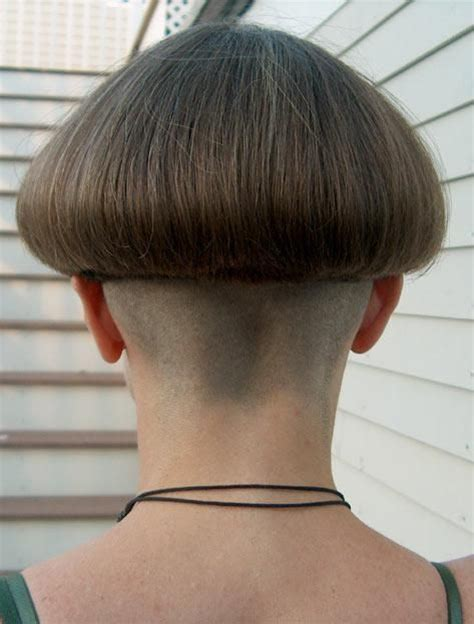 womens getting severe bob classic bowl cut with severe nape bobbed hair short