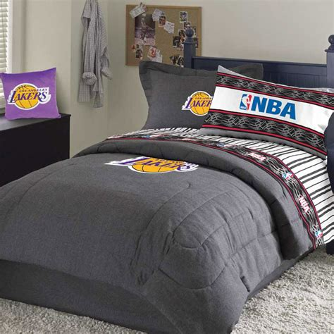 lakers bedroom los angeles lakers team denim standard pillowsham