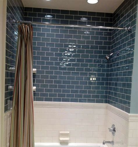 blue glass tile bathroom 40 blue glass bathroom tile ideas and pictures