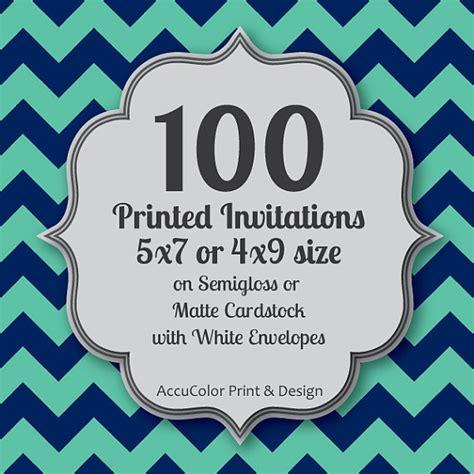 Wedding Invitations Printed Fast by Invitation Printing 100 Custom 5x7 Or 4x9 Print Service