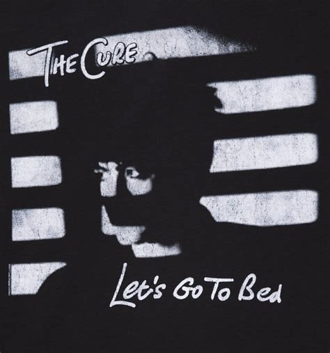 the cure let s go to bed men s black the cure let s go to bed t shirt from amplified