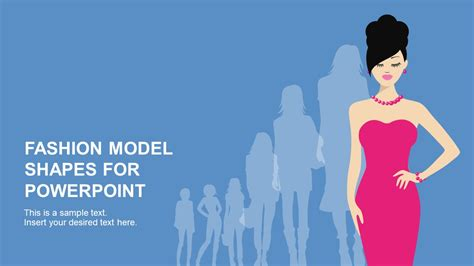 fashion model powerpoint shapes slidemodel