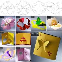 diy pop up cards templates cool creativity diy 3d kirigami pop up greeting cards