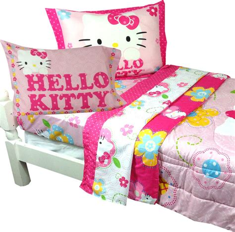 hello kitty twin bedding set hello kitty twin bedding sanrio floral boutique bed set