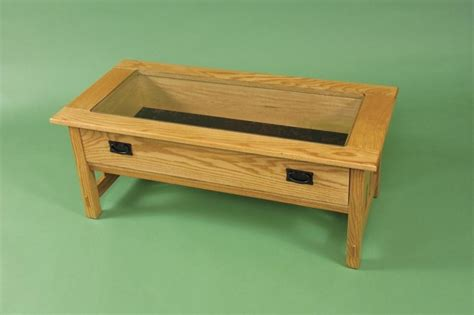 Coffee Table With Display Top Glass Top Coffee Table Display