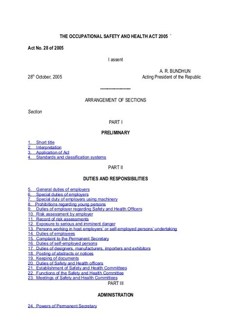Section 351 Health Service Act by Occupational Safety And Health Act 2005 Act No 28