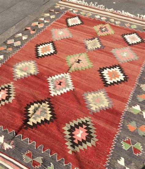 alfombras kelim large pastel red kilim rug vintage rug turkish kilim rug