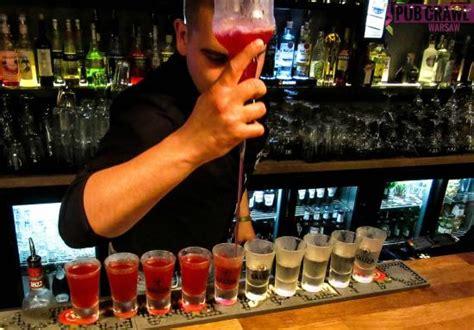 top shots at a bar vodka tasting warsaw warszawa polen omd 246 men