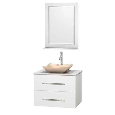 centra 24 in single vanity in white with solid surfacetop wyndham collection wcvw00930swhwsgs2m24 centra 30 inch