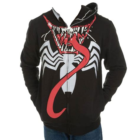 Zipper Marvel Jaket Hoodie marvel venom zip mask hoodie jacket officially licensed by marvel ebay