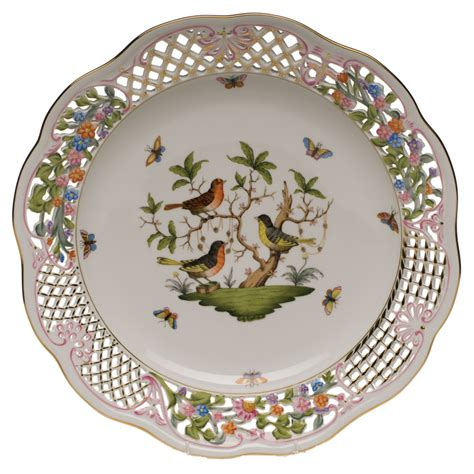 plate pattern finder herend pierced plate antique porcelain china plates