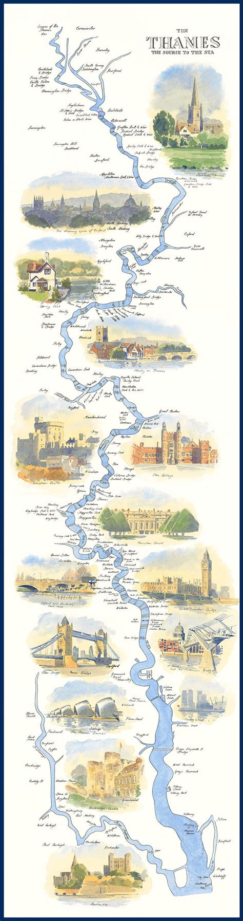 river thames journey from source to mouth map of the river thames path where mary langton liked to