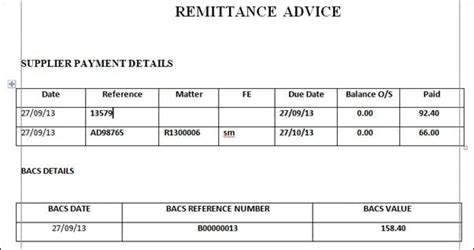 remittance template 6 remittance templates word excel pdf templates