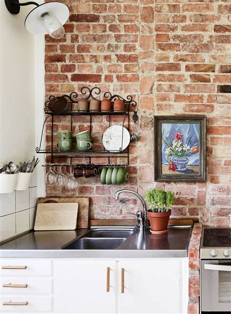 brick kitchen ideas best 25 brick wallpaper kitchen ideas on pinterest