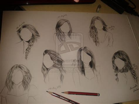 Drawing Hairstyles by Hairstyles Drawing By Drinkingchers On Deviantart