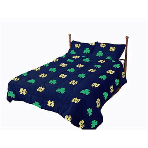 notre dame bedding notre dame fighting irish 100 cotton sateen full