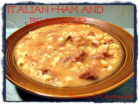 italian ham and bean soup recipe for crock pot or stove top