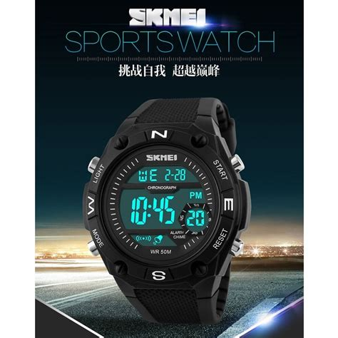Jam Tangan Pria Skmei Original Sport Casio Anti Air skmei jam tangan digital pria dg1093 black white