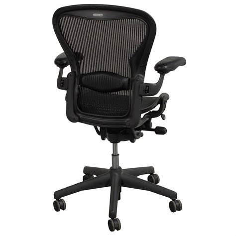 herman miller aeron  size  leather arm task chair carbon national office interiors