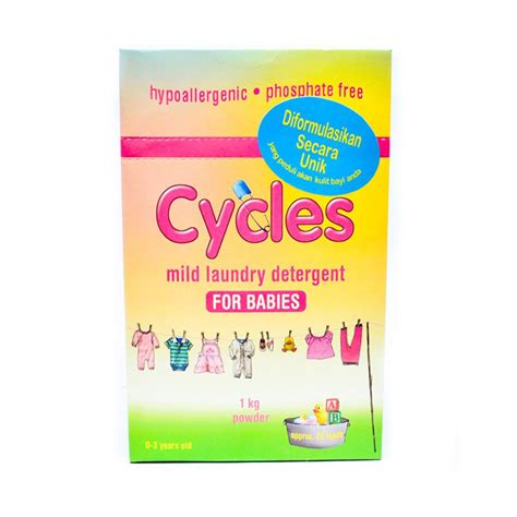 Detergen Cycles Powder 1 Kg jual cycles mild laundry detergent powder 1 kg