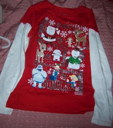 rudolph  red nosed reindeer girls bling shirt size