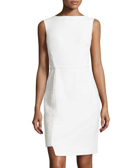 Lace Panel Sheath Dress lhuillier lace panel sheath dress